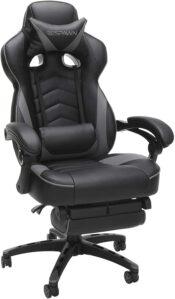 美国游戏椅RESPAWN RSP-110 Reclining Ergonomic Gaming Chair with Footrest in Gray