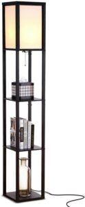 带架子的落地灯 Brightech Maxwell - Modern LED Shelf Floor Lamp