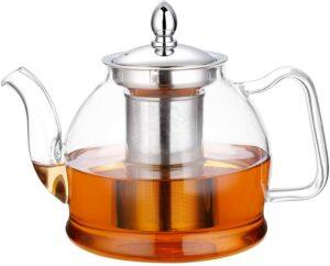 玻璃茶壶 Hiware 1000ml Glass Teapot with Removable Infuser
