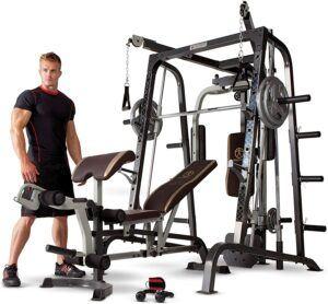 高级全面家庭健身设备 Marcy Smith Cage Workout Home Gym System