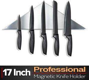 三角形专业不锈钢磁力刀架 Premium Designer Magnetic Knife Holder