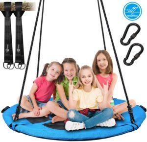 儿童秋千 Trekassy 700lb 45 Inch Saucer Tree Swing for Kids Adults
