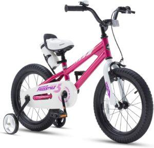 儿童自由式自行车带训练轮 RoyalBaby Kids Bike Boys Girls Freestyle Bicycle 12 14 16 Inch with Training Wheels, 16 18 20 with Kickstand Child's Bike