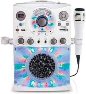 卡拉OK机 Singing Machine SML385UW Bluetooth Karaoke System with LED Disco Lights, CD+G, USB, and Microphone