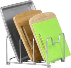厨房可以放切菜板的铁架:SimpleHouseware Kitchen Houseware Organizer Pantry Rack