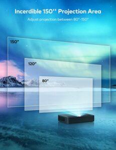 可以超短距离投射的4K投影仪 VAVA 4K UHD Laser TV Home Theatre Projector