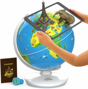增强现实互动地球仪 Orboot Earth by PlayShifu (App Based) Interactive AR Globe For Kids, STEM Toy Ages 4-10