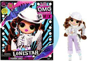 小女孩非常喜欢的LOL玩具 LOL Surprise OMG Remix Lonestar Fashion Doll