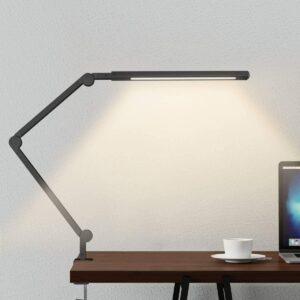 带夹子的可以夹在桌角上的LED护眼台灯 Swing Arm Lamp LED Desk Lamp with Clamp