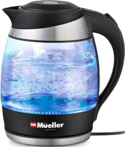 带有LED灯的烧水壶 Mueller Premium 1500W Electric Kettle with SpeedBoil Tech