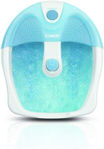 帮助你睡前放松的足部水疗器:Conair Pedicure Foot Spa with Bubbles and Pinpoint Massage Attachment