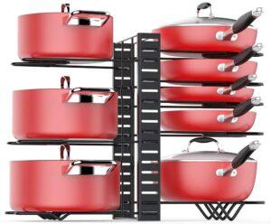 放置各种炒锅的架子:Pan Organizer Rack for Cabinet