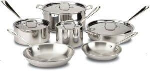 整体性能最佳的不锈钢烹饪厨具套装:All-Clad D3 Stainless Cookware Set