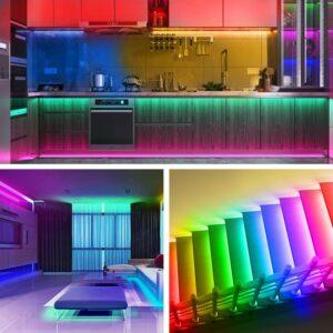 最佳智能彩色灯条:GUSODOR LED Strip Lights RGB Strips