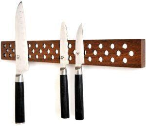 木制孔型磁力刀架 Magnetic Wooden Knife Bar Holder