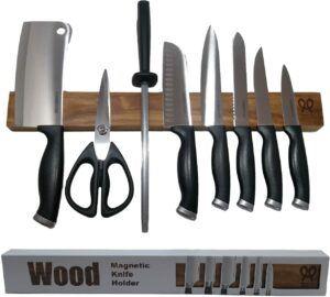 核桃木磁性刀架 Walnut wood magnetic knife holder