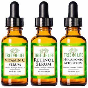 生命之树维生素C精华液:Anti Aging Serum 3-Pack for Face - Vitamin C Serum