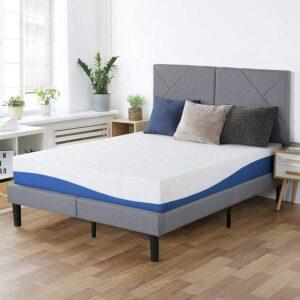 美国床垫推荐PrimaSleep Wave Gel Infused Memory Foam Mattress, 10'' H, Queen, Blue