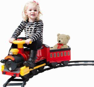 蒸汽火车骑乘玩具 Rollplay Steam Train 6-Volt Battery- Powered Ride-On