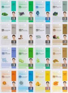 胶原蛋白精华全脸面膜套装(16片):Dermal Korea Collagen Essence Full Face Facial Mask