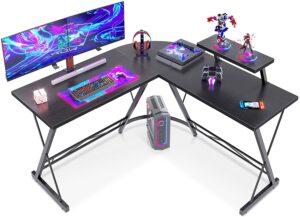 游戏电脑桌推荐Casaottima L Shaped 51inch Gaming Desk