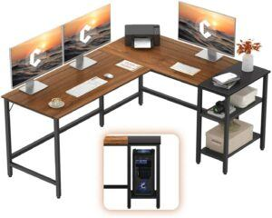 美国办公桌CubiCubi L-Shaped Office Desk