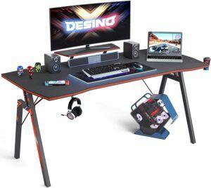 美国电脑游戏桌DESINO Gaming Desk 55 inch PC Computer Desk