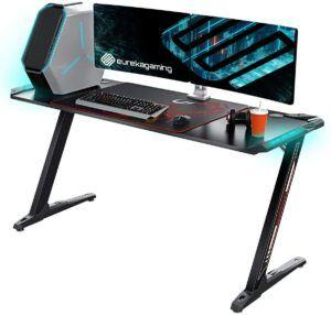 美国电脑游戏桌EUREKA ERGONOMIC Z60 Gaming Desk