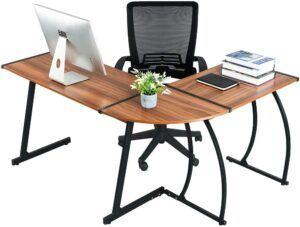 GreenForest L-Shaped Corner Desk Table