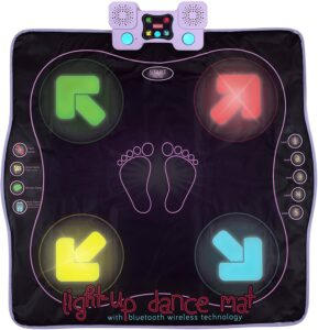 Kidzlane舞蹈垫 Light Up Dance Pad with Wireless Bluetooth/AUX or Built in Music