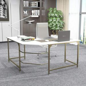 美国游戏桌Large L Shaped Desk Corner Computer Desk