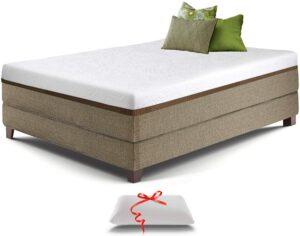美国床垫推荐Live & Sleep Ultra Queen Mattress, Gel Memory Foam Mattress, 12-Inch, Cool Bed in a Box, Medium-Firm Advanced Support - Bonus Luxury Pillow - CertiPur Certified - Queen Size