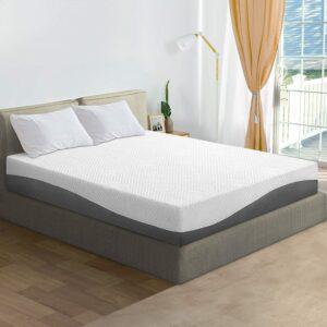 最佳床垫推荐Olee Sleep 10 in Aquarius Memory Foam Mattress Queen