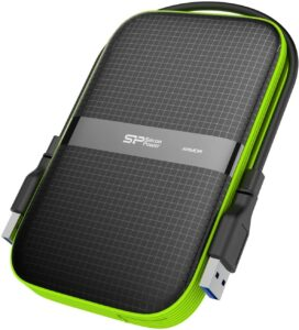 Silicon Power 2TB Black Rugged Portable External Hard Drive