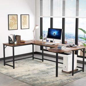办公桌推荐Tribesigns U Shaped Desk