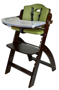 最佳木制儿童高脚餐椅:Abiie Beyond Wooden High Chair with Tray