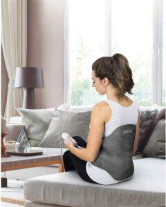 最适合背部疼痛:Sunbeam Heating Pad Back Wrap with Adjustable Strap