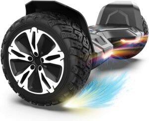 自动平衡电动踏板车推荐Gyroor Hoverboard Warrior 8.5 inch All Terrain Off Road Hoverboard with Music Speakers and LED Lights