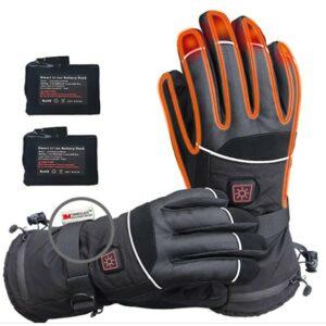 加热手套推荐CREATRILL Heated Gloves Men Women Rechargeable 7.4V Batteries for Motorcycle Cycling Riding Hunting Fishing Camping Hiking Ski