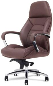 Gates Genuine Leather Aluminum Base High-Back Executive Chair 办公椅