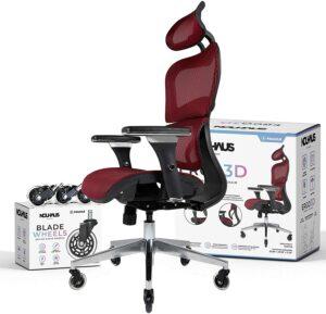 NOUHAUS Ergo3D Ergonomic Office Chair 时尚的人体工学办公椅