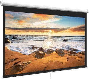 Perlesmith Projector Screen 支持4K,UHD, HD,3D投影仪屏幕