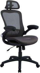最佳价格的网状办公椅:AmazonBasics Adjustable High-Back Mesh Chair