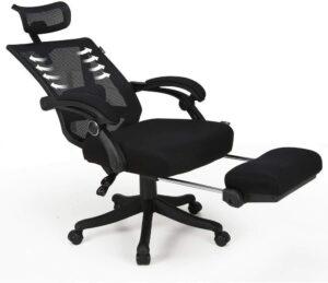 最佳可倾斜的网状办公椅:Hbada Reclining Office Desk Chair