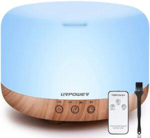 最佳带有遥控器的三合一香薰精油机 URPOWER 1000ml Essential Oil Diffuser Humidifiers