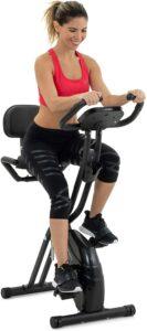 最佳性价比的健身车 Lanos Folding Exercise Bike with 10-Level Adjustable Magnetic Resistance
