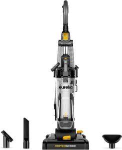 最佳立式宠物吸尘器:Eureka PowerSpeed Bagless Upright Vacuum Cleaner, Pet Turbo, Black