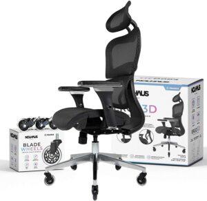 最佳高背网状办公椅:NOUHAUS Ergo3D Ergonomic Office Chair