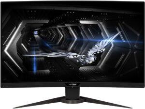 最佳27寸165Hz 1440P 2K 游戏显示器 AORUS CV27Q 27寸165Hz 1440P 1500R FreeSync Gaming Monitor