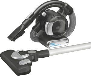 最佳Black Decker宠物吸尘器:BLACK+DECKER 20V MAX Flex Cordless Stick Vacuum with Floor Head and Pet Hair Brush
